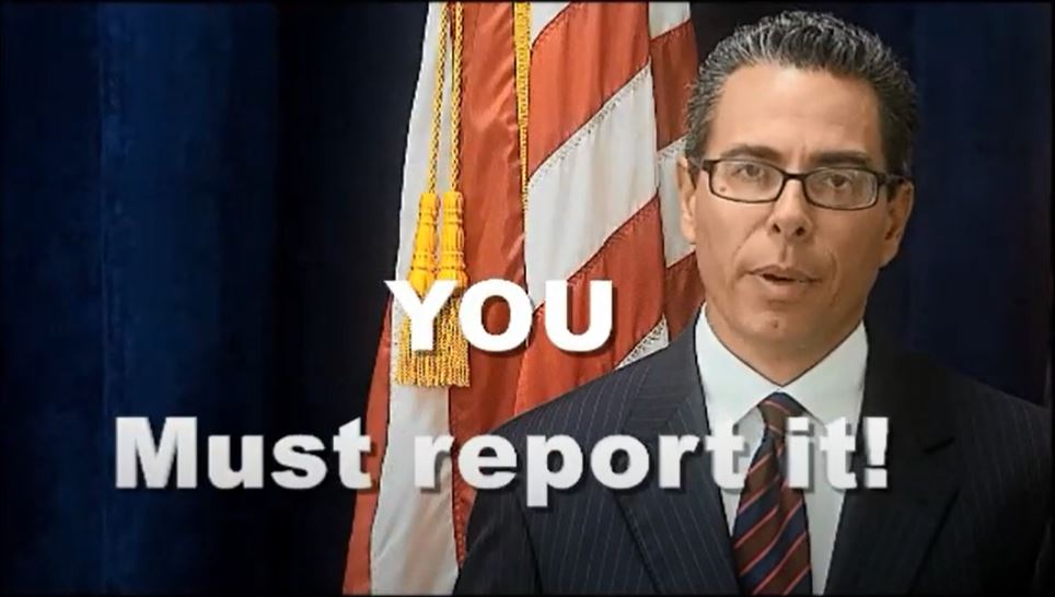 Mandated Reporting -You must report it